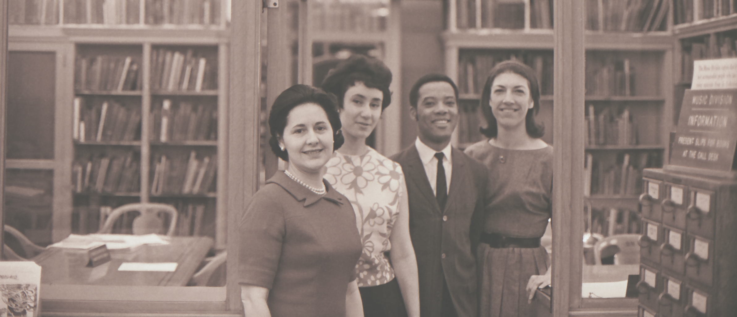 an archive photo of Staff members of the Dance Collection.