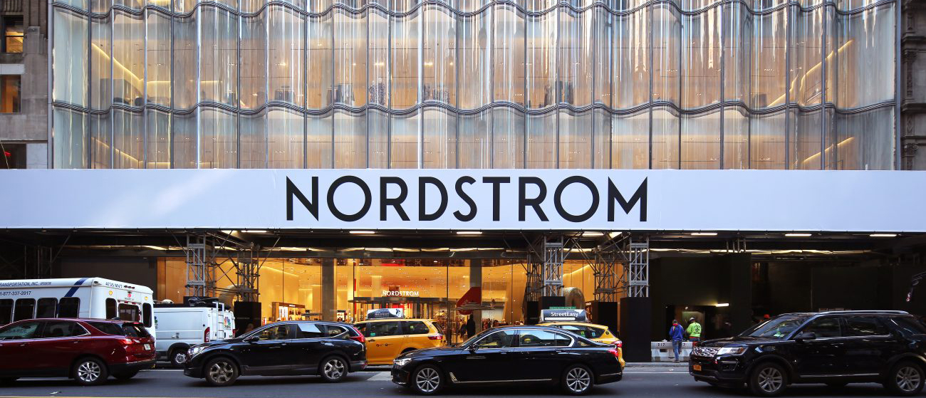 outside shot of Nordstrom_s front entrance on 57th Street