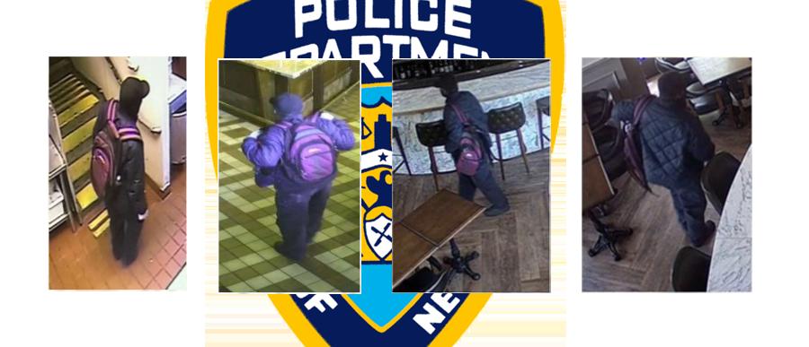suspect in surveillance stills from NYPD