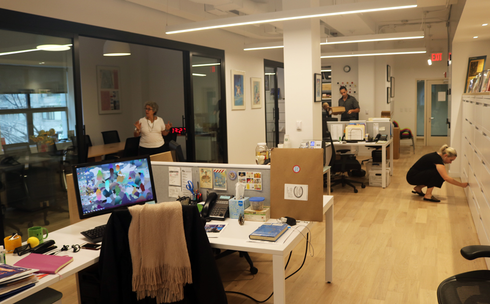 the inside of the Lincoln Square BID_s new office