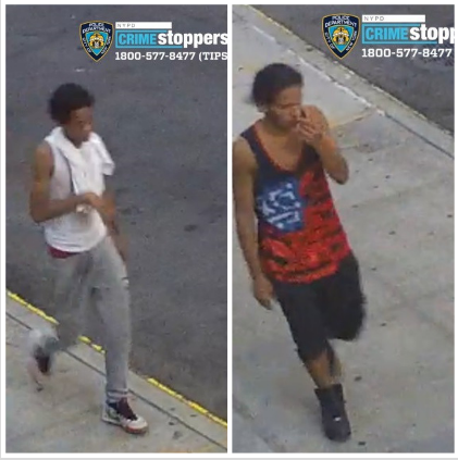 Crime stopper surveillance photos of the two suspects