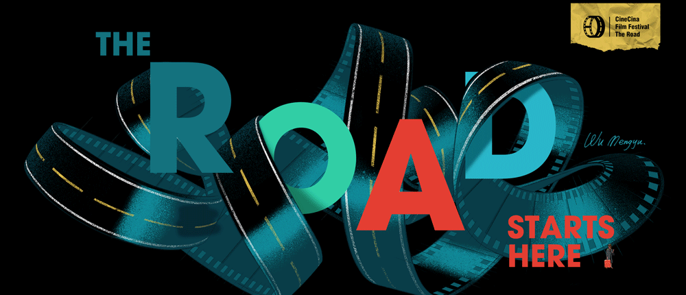 logo for The Road film fest by CineCina