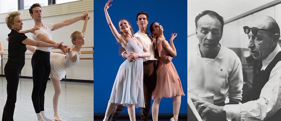 a collage of images of students studying ballet