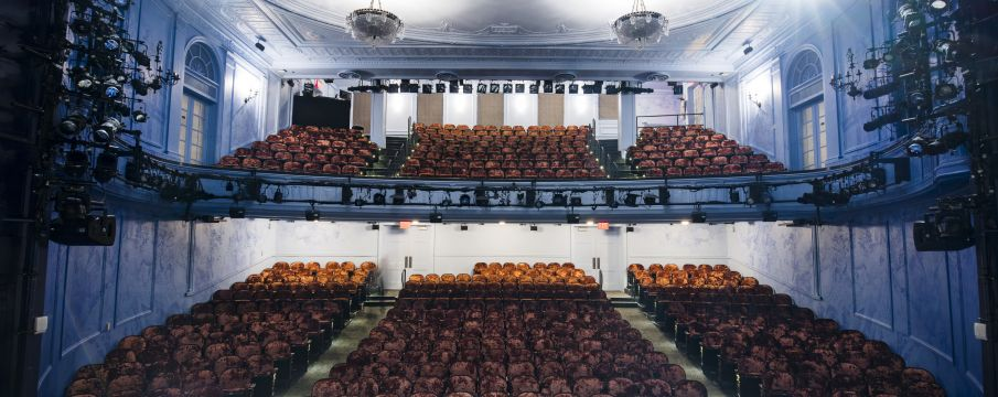 the seating inside of Second Stage's Hayes Theater