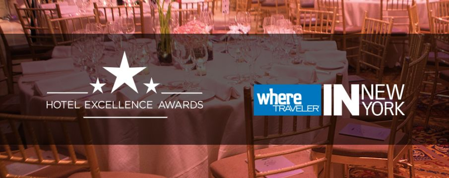 Hotel Excellence Awards mock-up with Logo