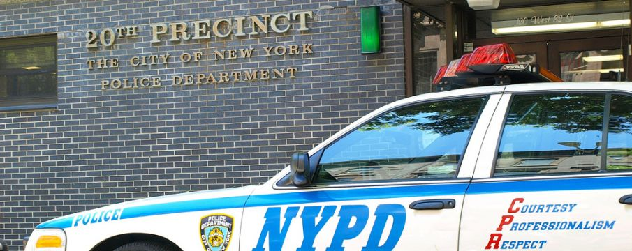 outside shot of the nypd 20th precinct headquarters