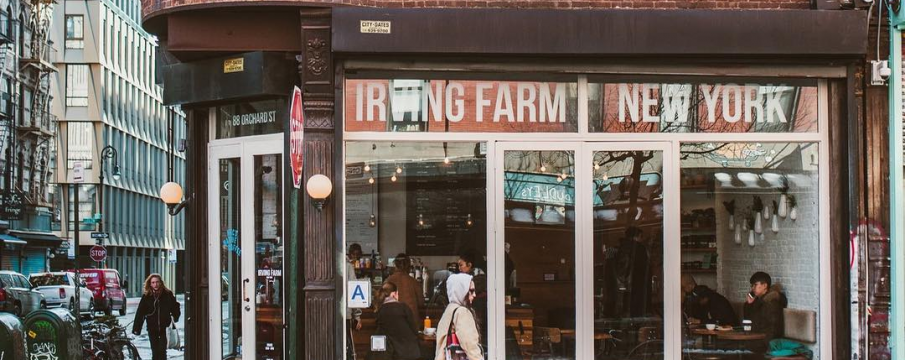 Outside of Irving Farm location on Orchard Street