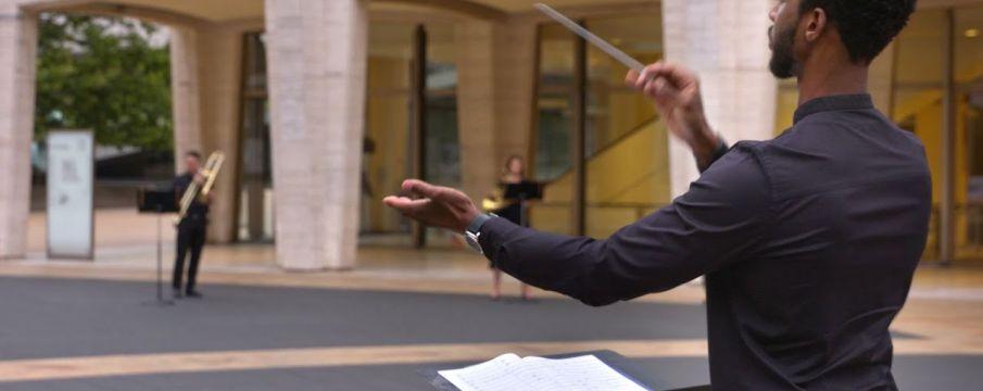 composer on lincoln center plaza
