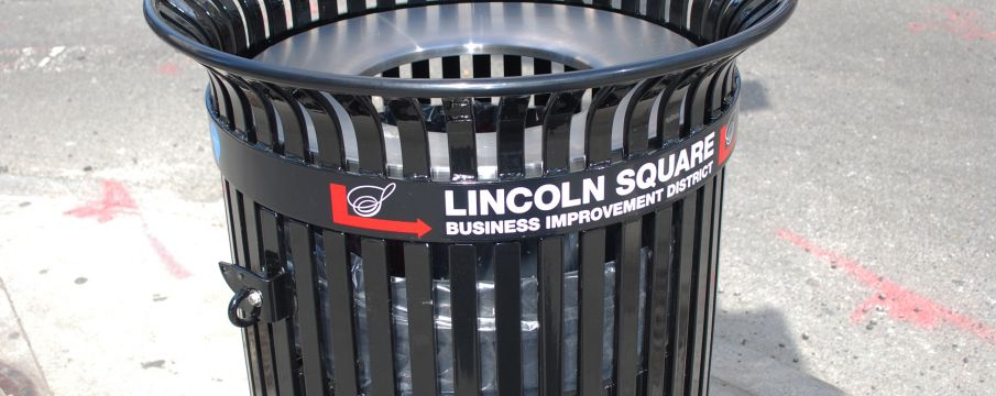 Missing: Two Lincoln Square BID Trash Receptacles