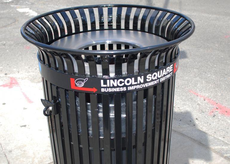Missing: Two Lincoln Square BID Trash Receptacles