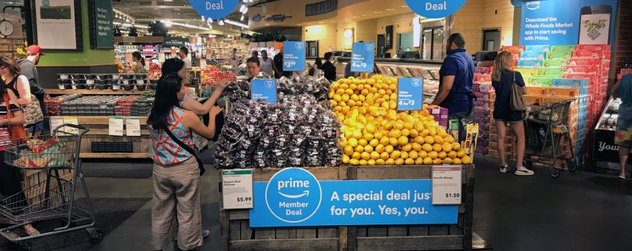 Discounts at Whole Foods Market with Amazon Prime