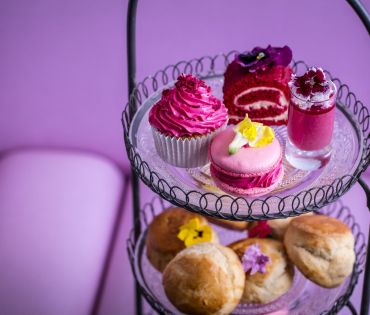 Pink Afternoon Tea at Bluebird London